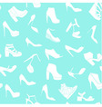 Seamless pattern made of fashionable shoes vector image