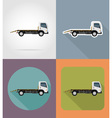 transport flat icons 27 vector image