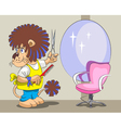 Lion is the hairdresser and stylist vector image vector image