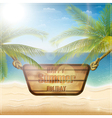 Happy summer holiday card vector image vector image