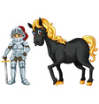 Knight and horse vector image
