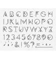 Font Flat paper vector image vector image