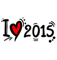 2015 love vector image