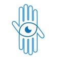 logo hand with eye vector image