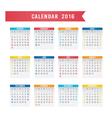 Calendar 2016 Design vector image