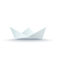 Paper Ship isolated on white background vector image