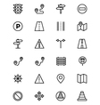 Road Outline Icons 1 vector image