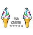 Ice cream vintage retro label vector image