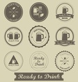 Beer Brewed Label vector image