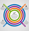 circle colorful infographic vector image