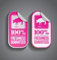 Food Sticker Pork vector image