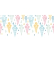 Ice cream cones textile colorful horizontal vector image
