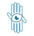 logo hand with eye vector image