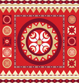 Ornamental print with many details vector image