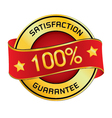 Satisfaction Guarantee Logo Satisfaction vector image