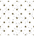 star shape glitter gold black and white seamless vector image