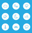 weather outlines set collection of temperature vector image