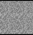 monochrome knitted seamless background pattern vector image