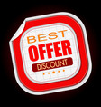 best offer stick sale vector image vector image