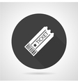 Ticket black round icon vector image