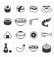 Icon japan food vector image