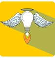 Light Bulb and Wings vector image