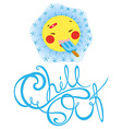 chill out vector image