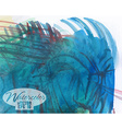 Abstract colorful watercolor vector image