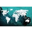 Grunge blue worldmap vector image