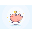 Finance Icon with a Piggy Bank vector image