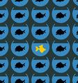 Goldfish in flock Piranha seamless pattern Not vector image