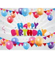 Happy birthday celebration with colorful balloon a vector image