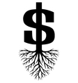Growing Dollars vector image
