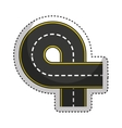 road street isolated icon vector image