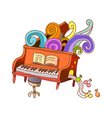 A piano lesson vector image
