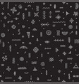 seamless pattern with ethnic tribal symbols black vector image