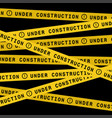 under construction ribbons vector image