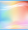 colorful bright abstract light swoosh line layout vector image