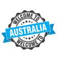 australia round ribbon seal vector image