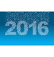 2016 snowflakes Snow falls on the figures New year vector image