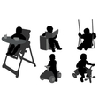 toddlers silhouettes vector image
