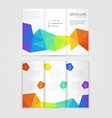 Brochure template design with rainbow elements vector image