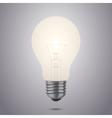 glowing light bulb vector image