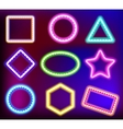 Neon frame for text vector image