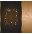 frame and border with gold pattern vector image vector image
