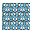 Background with funny penguins vector image