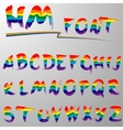 Hakuna Matata rainbow font vector image