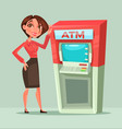 happy smiling bank consultant manager woman vector image