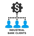 Industrial Bank Clients Icon With Caption vector image