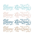 Isolated abstract colorful happy birthday writing vector image